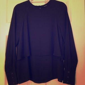 Two tier black blouse